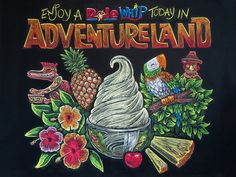 Dole Whip Chalk Drawing