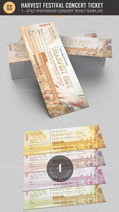 Free Concert Ticket Template Concert Event Tickets  Ticket Templates  Pinterest  Event Ticket .