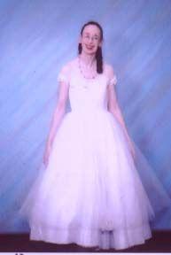 Full length of cardinally laced from 1999 shoot.  Laurel A. Rockefeller modeling.
