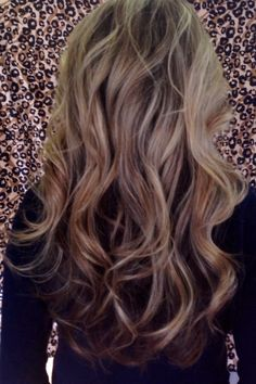 High lighted hair on top and sides only with long layers