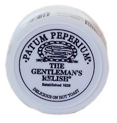 The Gentlemans Relish. Spiced Anchovy Relish Large 2.5oz (71g) Patum Peperium http://www.amazon.com/dp/B000NUB9YI/ref=cm_sw_r_pi_dp_ybsRwb0XP4E05