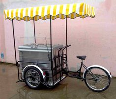 ICE CREAM CART ON BIKE TRICYCLE FOR YOUR ICE CREAM IN STREET