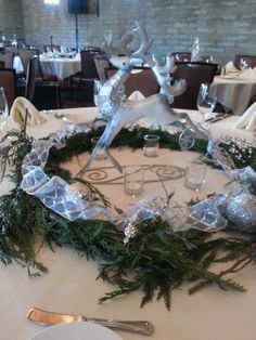 silver and white Christmas party
