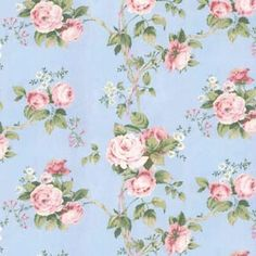floral blue wallpaper