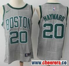 723540c64 Nike Boston Celtics  20 Gordon Hayward Gray NBA Swingman City Edition Jersey