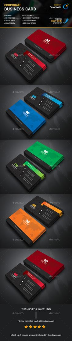 Creative Corporate Business Card Template PSD