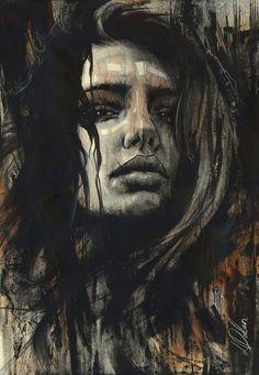 "Non Nude OIL & ACRYLIC CANVAS Painting ORIGINAL Portrait By L Dolan 16x24"" Brida"