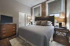 It's hard to beat a comfy king sized bed, and the one in suite #202 is fantastic!