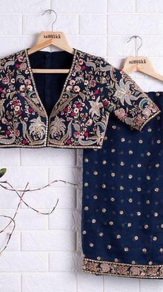 New Blouse Designs, Saree Blouse Designs, Bollywood Saree, Bollywood Fashion, Latest Saree Trends, Latest Sarees, Indian Silk Sarees, Pakistani Bridal Wear, Silk Dress