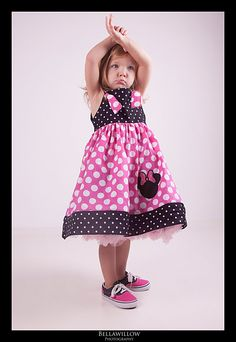 Minnie Mouse boutique knot dress FREE SHIPPING by MoxieClothing, $35.00