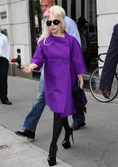 Gaga's custom Brian Atwood heels made multiple appearances during the singer's many travels.