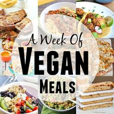 Looking to add more meatless meals to your diet? Here's a week of vegan meals to inspire you during your weekly meal planning session!