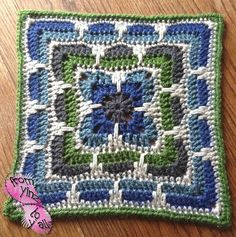 Pattern] This Larksfoot Inspired Granny Square Is Gorgeous! [Free Pattern] This Larksfoot Inspired Granny Square Is Gorgeous! - Knit And Crochet Daily[Free Pattern] This Larksfoot Inspired Granny Square Is Gorgeous! - Knit And Crochet Daily Crochet Squares Afghan, Crochet Blocks, Granny Square Crochet Pattern, Crochet Granny, Crochet Motif, Crochet Flowers, Crochet Stitches, Free Crochet, Knit Crochet