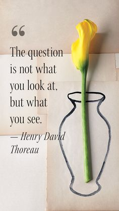 """""""The question is not what you look at, but what you see."""" --Henry David Thoreau #MotivationalMonday What Does Serenity Mean, Finding Inner Peace, Catalog Cover, Henry David Thoreau, Self Acceptance, What You See, You Look, Monday Motivation, Garnet"""