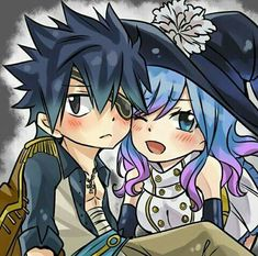 Shared by Juvia_Fullbuster. Find images and videos about art, fairy tail and gruvia on We Heart It - the app to get lost in what you love. Fairy Tail Gray, Fairy Tale Anime, Fairy Tail Natsu And Lucy, Fairy Tail Love, Fairy Tail Ships, Fairy Tales, Juvia And Gray, Cute Romance, Fairy Tail Guild