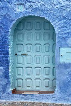 3- Puerta en Chefchaouen (Marruecos). Foto ©Sandra Jordan