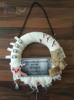 Mara Macabre: Halloween Asylum Hospital Wreath