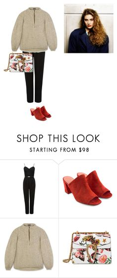 """Bland"" by carolfaisca ❤ liked on Polyvore featuring Forever New, Maryam Nassir Zadeh and Gucci"