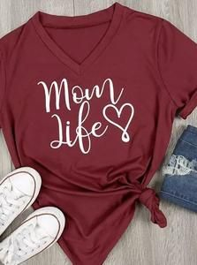 Mom Life Shirt Women Tees