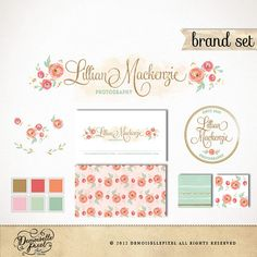 Hand Drawn Brand Identity Package with Business by Demoisellepixel, $99.90