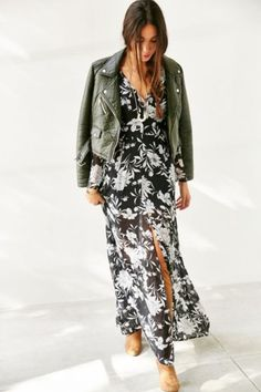 Glamorous Floral Chiffon Maxi Dress - Urban Outfitters