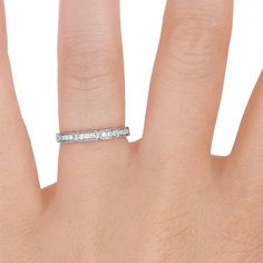 Deco Diamond Ring #BrilliantEarth