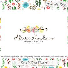 Floral Premade Logo Design  Web & Print Files  Watermarks