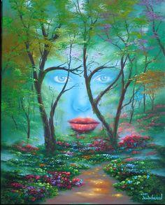 Jim Warren American Fantasy and Surrealist painter Tutt'Art@ () Illusion Kunst, Illusion Art, Images Gif, Reiki Meditation, Creation Photo, Surreal Art, Optical Illusions, Face Illusions, Landscape Art
