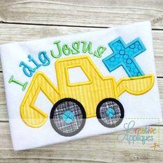i-dig-jesus-cross-applique-embroidery-design $ REPIN THIS then click here: www.creativeappliques.com