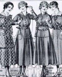 Girls' Dresses from 1916 Catalog