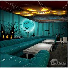 3D Halloween Theme Pattern PVC Waterproof Sturdy Eco-friendly Ceiling and Wall Murals          - beddinginn.com