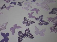 3D DIY Butterfly wall art --- 3D papieren muurvlinders in paarstinten --- Vorm een lief hart, schattig op een babykamer of originele bruiloftsdecoratie