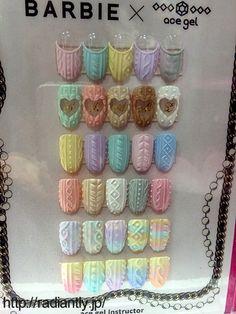 2014 Beauty World Japan Report 3 … Cute Nail Art, Cute Nails, Pretty Nails, Acrylic Nail Art, 3d Nail Art, Art 3d, Xmas Nails, 3d Nails, Manicure