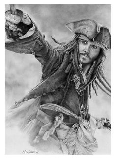 Amazing Pencil Art photo of the one and only Johnny Depp as Captain Jack