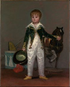 José Costa y Bonells (died l870), Called Pepito Goya (Francisco de Goya y Lucientes) (Spanish, Fuendetodos 1746–1828 Bordeaux) Date: ca. 1810 Medium: Oil on canvas Dimensions: 41 3/8 x 33 1/4 in. (105.1 x 84.5 cm) Classification: Paintings