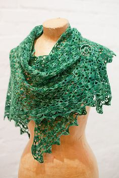 Ravelry: cathymc's southbay forest shawl #2 of 2010