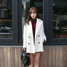 Sale!!!Korean Women Winter Warm Wool Lapel Slim Trench Parka Coat Jacket Outwear