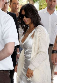 Kim Kardashian's mismatched clothing at Cannes