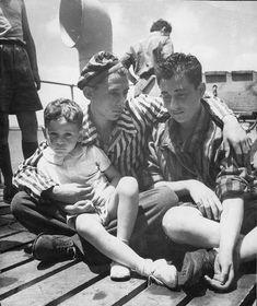 Two orphan brothers, refugees from Transnistria, on their way to Atlit, British Mandatory Palestine, Postwar - Yad Vashem