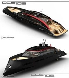 Appearance wise, you won't find any significant difference with conventional yacht designs except the extraordinary axe bow hull design. But CCS 108 Yacht Design, Boat Design, Jet Ski, Cool Boats, Small Boats, Course Vintage, Float Your Boat, Yacht Boat, Speed Boats