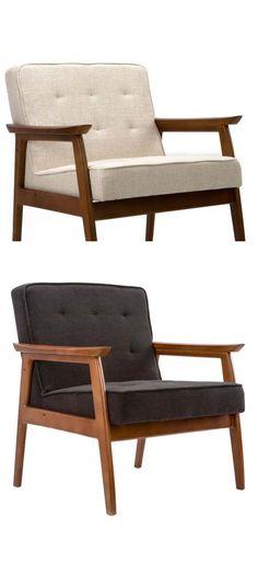 Mid-Century Walnut Lounge Chair - Dot & Bo