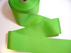 Bright Lime Green Grosgrain Ribbon 3 inches by GriffithGardens