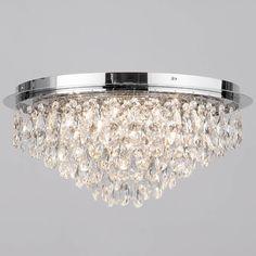 Dramatic lighting for low ceilings pinterest modern ceiling flush ceiling light crystal 6 light chrome aloadofball Images