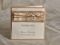 Wedding Thank You Card  Rustic  Thank You Card  by DecorisWedding, $3.30