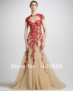 Gala Dresses Elie Saab Red Wedding Evening Gowns