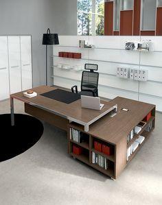 Havicmeubelen-kantoor.nl - Rim directiebureau met aanbouwkast in houtdecor - Directiebureaus - Directie