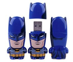 He can keep all his top-secret information on this Batman USB flash drive ($15-$70 each).