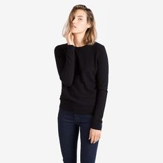 The Women's Crew Cashmere Sweater from Everlane, $128. I've read a fashion article that recommended this.