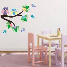 Joyful Birds Wall Sticker Bedroom Hipster Cool Kids MS109VC