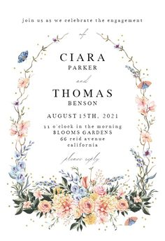 Spring Dusty Frame - Engagement Party Invitation #invitations #printable #diy #template #Engagement #party #wedding Engagement Party Invitations, Wedding Invitation Templates, Christening Invitations, Wedding Frames, Response Cards, Wedding Engagement, Printable, Spring, Island